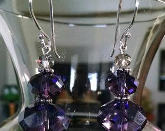 Oh My Purple Earrings
