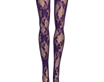 """Pullip DAL Doll Stockings - Purple Lace - Doll Clothes - 12"""""""