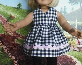 18 inch American Girl Doll Clothes, 2 Piece Dress and Legging Outfit