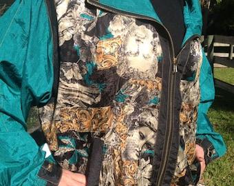 Bob Mackie wearable art jacket, Bob Mackie jacket, large jacket