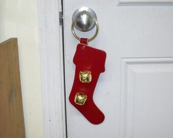 Warner decorative door bell hanger (CHRISTMAS SOCK) & Door sock | Etsy
