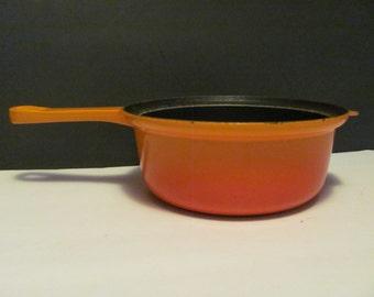 Le Creuset 22 Flame Orange Enameled Cast Iron 2 QT Saucepot