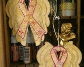 Pink Awareness Ribbon Ornament