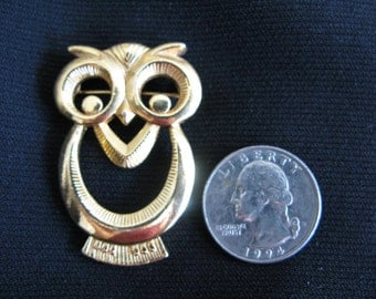 Avon Owl Pin Jewelry Brooch Owl Vintage Gold Pin Brooch on Etsy