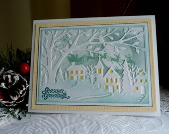Stampin up- CottageCutz - Handmade card - Season Greetings - NEW