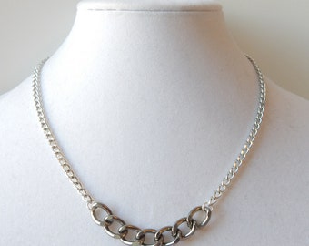 Delicate Silver Necklace statement jewelry chain bar necklace LITTLE TALKS