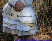 Girls Ruffle Skirt Upcycled Size 3T-4T