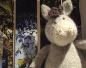 DONKEY Hand knit plush animal toy children