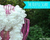 Ruffle Scarf in Winter White (with Sequins)