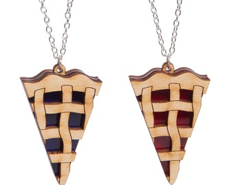 Lattice Pie necklace - laser cut acrylic
