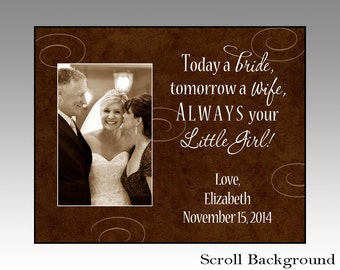 Today a bride tomorrow a wife, wedding gift, wedding picture frame, parent wedding gift, wedding gift, handmade, wedding parent gift, frame