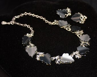 Vintage Lucite Coro Necklace and Earrings