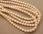 White Freshwater Pearls, Near Round Pearls 5.75-6.75mm--set of 10