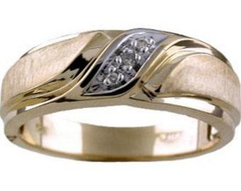 Diamond Wedding Band Ring 14K Yellow or 14K White Gold