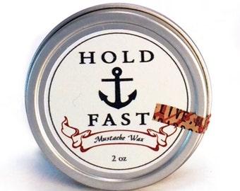 Hold Fast Mustache Wax 2oz