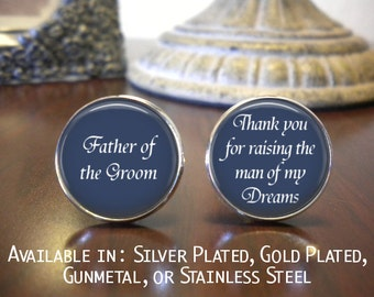 SALE! Father of the Groom Cufflink - Personalized Cufflinks - Father of the Groom Gift - Wedding Jewelry