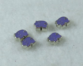 Purple Hippopotamus Floating Charm