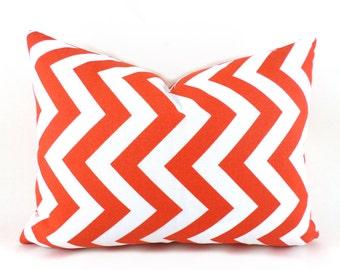 Orange Outdoor Lumbar Pillow Decorative Pillow Cover Orange Chevron Pillows Premier Prints Outdoor Orange