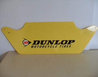 Vintage Dunlop Motorcycle Tire Tin Sign