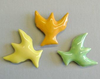 Set of 3 Neon Bird Magnets