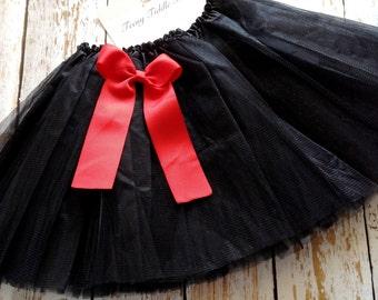 Black TuTu, Baby TuTu with matching bow, Toddler Tu Tu, Ballerina Tu Tu, Baby Tu Tus, Tutus, Baby Tutus