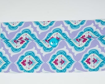 Floral Damask Diaper Clutch and Changing Pad