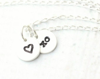 Little Sweetie -  XO Heart Necklace, Sterling Silver