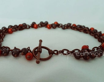 Inspired Fire Miracle bead Bracelet