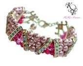 Multistrand Pearl Bracelet, Bridesmaid Bracelet, Mother of the Bride Jewelry, Wedding Jewelry, Pearl Bracelet, Three Strand Bracelet