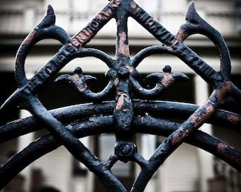 Rustic Wrought Iron Gate Decor - Photography - Jonesborough Tennessee