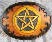 Pentacle Altar Paten, Altar Tile for Wiccan, Magick, Pagan Rituals