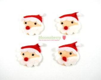 """2"""" Santa Claus Padded/ Appliques - Christmas Appliques - Satan Cause Padded - Christmas/Winter/Holidays - Hair Accessories Supplies"""