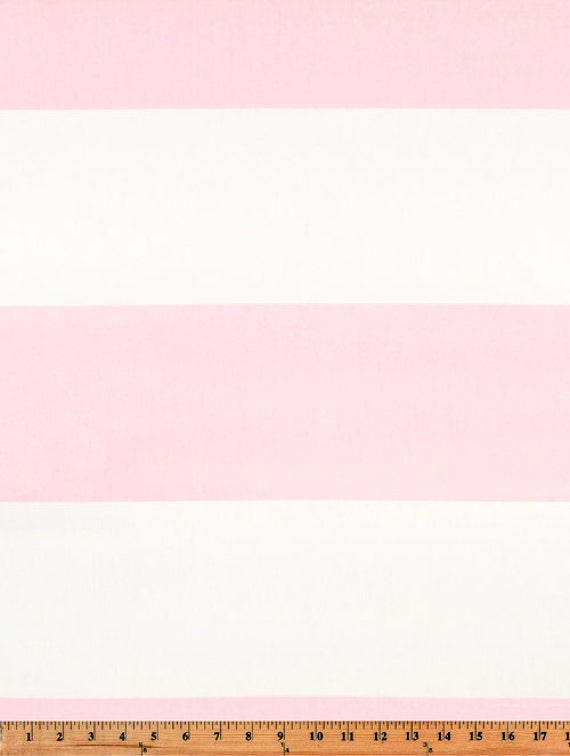Pink white horizontal stripe cabana curtains rod pocket 84 96 108