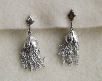 Vintage Sarah Coventry Silver Clip Dangle Earrings