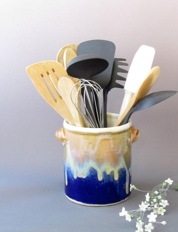 Large kitchen utensil holder stove side utensil by meshstudio - Unique kitchen utensil holder ...