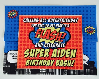 Superhero Invite Twist Card