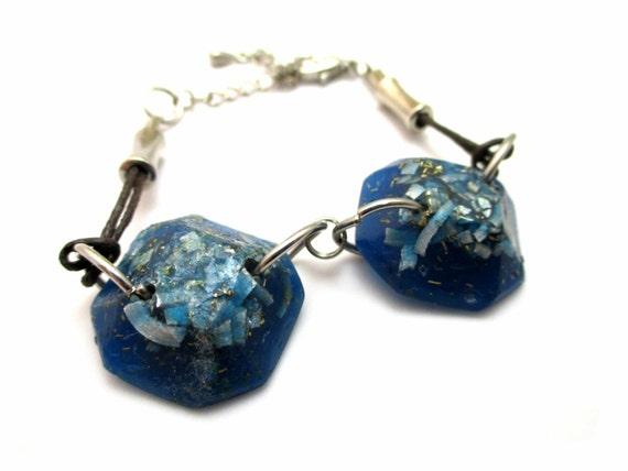 blue orgonite atlantis bracelet jewelry orgone