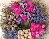 Dried Flower Wreath/ Wreath/Floral Wreath/Dried Arrangement/Dried Peonies and Hydrangea Wreath/Victorian Decor/Arrangement/Dried Flowers