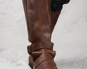 22% DISCOUNT! Mens High Leather Boots in Renaissance Style