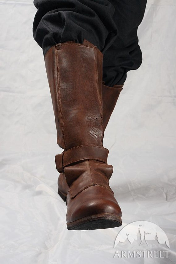 mens high leather boots in renaissance style by armstreet