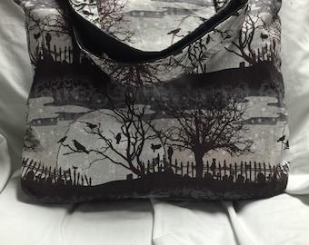 Edgar Allen Poe Cemetary Tote Bag