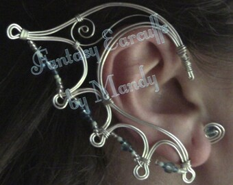 Sea Sprite Earcuffs (in Sterling Silver Wire)