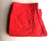 Vintage jeans | Vintage red Wranglers flared leg trousers