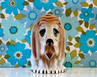 Vintage Dog Money Box Coin Bank Kitsch Kawaii Mr Wrinkles