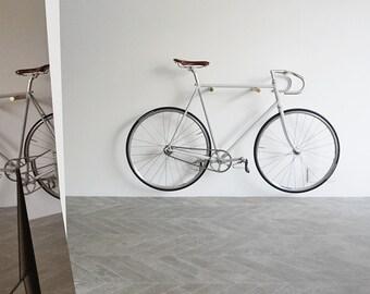 wooden bike hook // OAK WOOD // BRASS