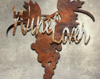 Wine Lover Metal Wall Art 24 Inches by 24 Inches