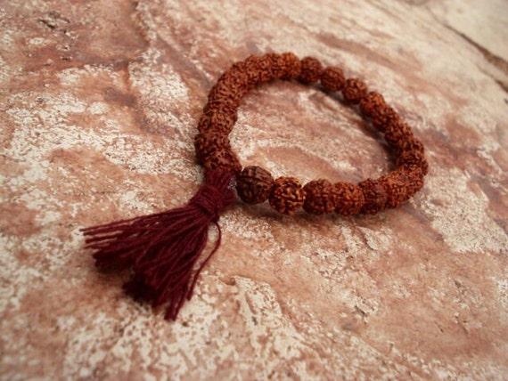 Rudraksha Bracelet, Wrist Mala, Mala Bracelet, Yoga Bracelet, Prayer Bead Bracelet, Meditation Bracelet, Spiritual Jewelry