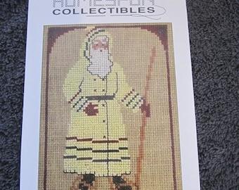 HomeSpun Collectible Santa Cross Stitch Pattern
