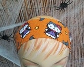 Hello Kitty Halloween Headband One Size 100% Licensed Cotton Fabric Orange
