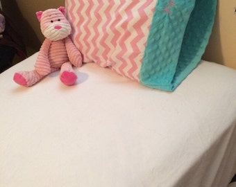 Soft minky twin sized fitted sheet